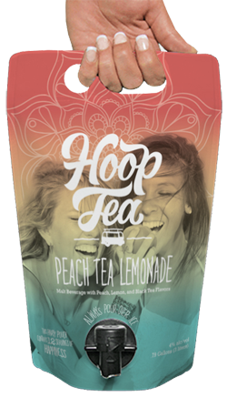 Hoop Tea Peach Tea Lemonade