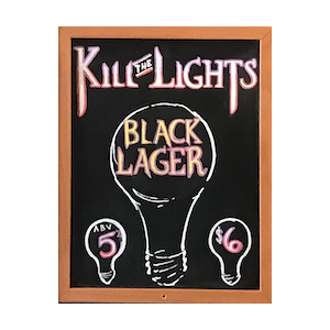 Three Weavers Brewing Kill The Lights Blk Lager