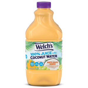 Welch's 100% Juice with Coconut Water White Grape Mango